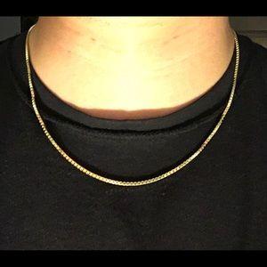 Gold Chain 14k Gold Vermeil Box Chain 20in 2mm